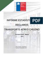 Informe Trimestral de Reclamos Del Transporte Aereo Ene -Marzo 2017