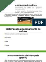 Almacenamiento de Sólidos - DISEÑO de PLANTAS