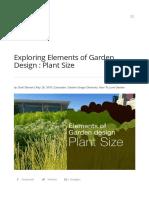 Exploring Elements of Garden Design _ Plant Size _ Lurie Garden