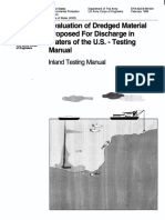 Evaluation of Dredged MAterial Proposed for Discharge in Waters of the U.S. - Testing Manual