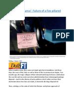 'Good Governance' Failure of a five-pillared process.docx