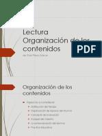 Lectura Organización de los contenidos