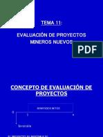 EVALUACIÓN DE PROYECTOS MINEROS NUEVOS