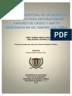 Diseño Conceptual de Un Reactor Catalítico Para Depuración de Vapores de Crudo y Nafta Generados en Oiltanking Colombia