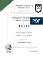 DETERMINACIÓN EXPERIMENTAL DE LA VELOCIDAD DE CAÍDA DE SEDIMENTOS COHESIVOS EN SUSPENSIÓN404125