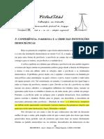 3conferencia - Parrhesia e a Crise Das Instituições Democraticas