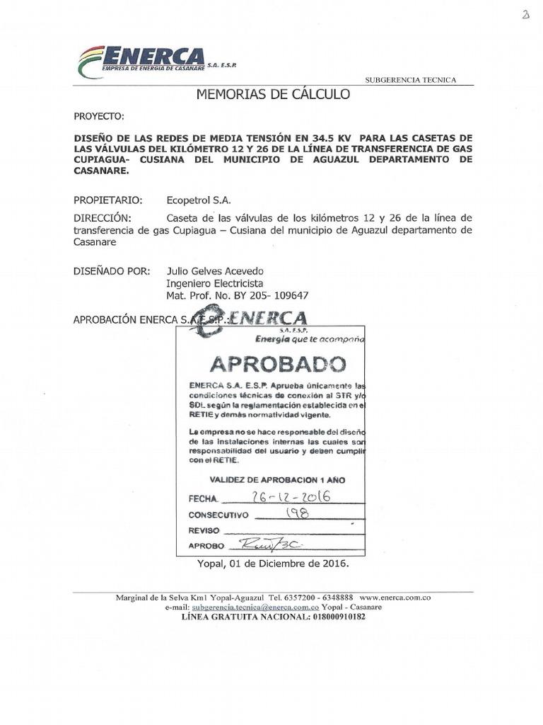 DISEÑO DE LAS REDES DE MEDIA TENSIÓN EN 34.5 KV PARA LAS CASETAS DE ...