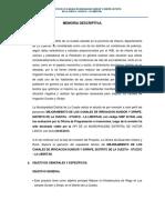 LA CUESTA - Memoria Descriptiva del Expediente Técnico.