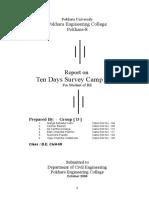 Survey Camp Report