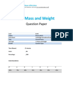 1.3 Mass and Weight Igcse - Cie - Physics