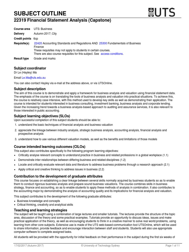 financial statement analysis purpose