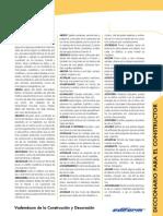 Diccionario Del Constructor