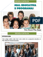 8. Pastoral Educativa y Sus Programas - Oscar Pérez