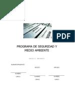 14.1. Programa de Seguridad