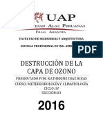Monografia Destruccion Del Ozono