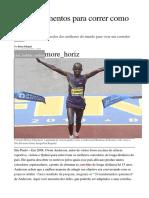10 Mandamentos Para Correr Como Queniano
