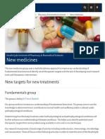 New Medicines - University of Strathclyde