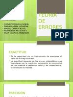 TEORÍA DE ERRORES-MEDIDAS ELÉCTRICAS