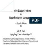 Hipel, K. et al. () Decision Support Systems in Water Resources Management. Presentation.pdf