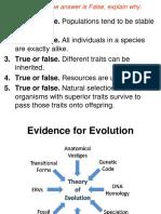 Evidence of Evol