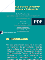 Trastornos de Personaldiad. Clíncia y Clasificaciones - Dr. Riquelme