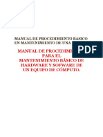 Manual de Procedimiento Basico en Mantenimiento Pc