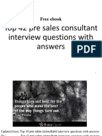 Pre-sales consultant interview questions