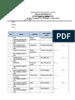 Daftar Hadir Pertemuan Hasil Survey