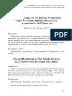 La Metodologia de Los Juicios Simulados Como Una Herramienta Eficaz Para La Ensenanza Del Derecho