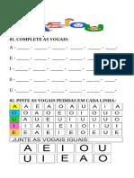 REFORÇO vogais