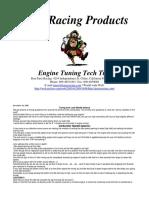 Paris Racing Engine Tuning Tech Tips