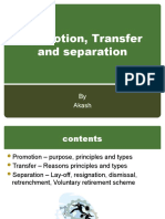 Promotion, Transfer and Separation