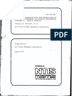 Computer Program for the Prediction of Aircraft Response to Runway Roughness Volume II User's Manual