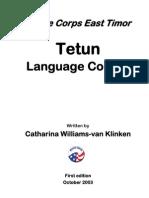 US. Peace Corps Tetun Language Course