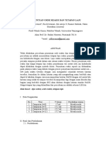 Laporan Penentuan Orde Reaksi Dan Tetapan Laju 1