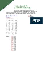 One Hundred Game Records (Bai Ju Xiang Qi Pu)