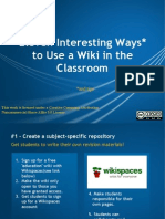 Ten Interesting Ways to Use a Wiki in the Clas