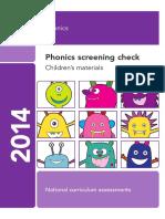 Phonics Screening Check 2014 Assessment Material