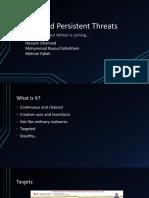 Advanced Persistent Threats