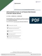 Application of Dcoc to Optimum Prestressed