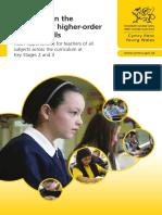 Guidance on Teaching Higher Order Reading Skills
