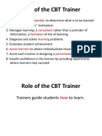 Role of the CBT Trainer and Trainee