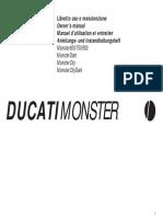 Manuale Uso e manutenzione Ducati Monster in 4 lingue