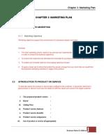 Chapter 3 Marketing Plan -