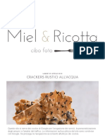 Crackers Rustici All'Acqua _ MIEL & RICOTTA