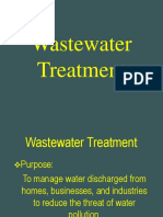 Wastewater Treatment BS 105 Sp2013