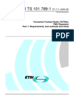 TETRA Two Repeaters - Test Methods & Limits