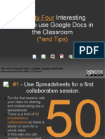 Twenty Two Interesting Ways to Use Google Docs
