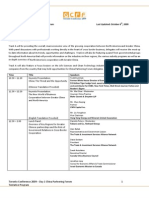 To Conference -Day 1 Program