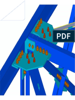 3D View of Steel Node in Tekla
